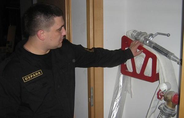 Правила поведения работников охраны при пожаре