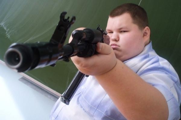 Школьник с оружием
